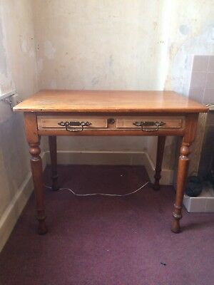 Victorian Pine Desk/table COLLECTION IN PERSON HAWLEY, KENT.
