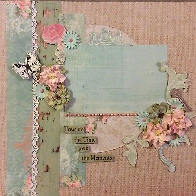 handmade scrapbook page 12 X 12 Treasure The Time Love The Moments Layout