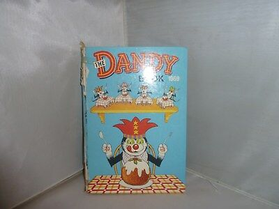 "1969 Annual ""The Dandy Book"" Unclipped But With Some Writing"