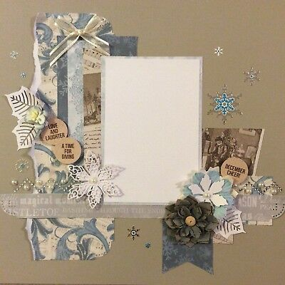 handmade scrapbook page 12 X 12 Christmas Cheer Themed Layout