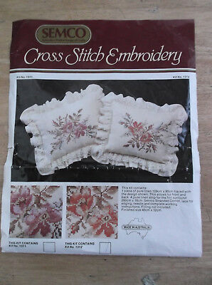 Unworked Semco Cushion Kit Embroider In Cross Stitch