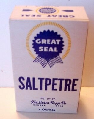 Great Seal Saltpetre Box Full  4 oz. Ohio