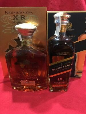 1+1 Whisky Johnnie Walker XR 21 + Black Label Collectors Edition