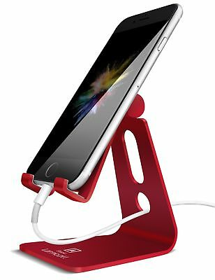 Aluminum Charging Dock Stand Adjustable Holder for All Android Smartphone Red