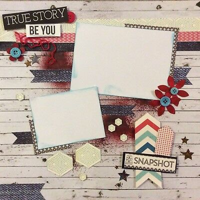 handmade scrapbook page 12 X 12 True Story Be You Themed Layout