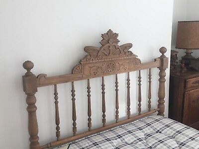 French Antique pine double bed original beautiful