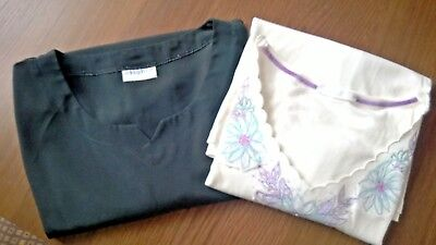 BUNDLE 2 x LADIES / WOMENS TOPS SIZE 24  ..  Evans and Marks & Spencer