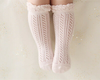 Girl Kid baby Summer Calf High Cotton Soft long Socks Tights protector 0-12month