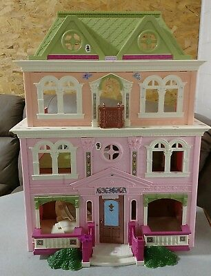 Fisher-Price Loving Family Grand Mansion Pink Dollhouse - 2008 Edition