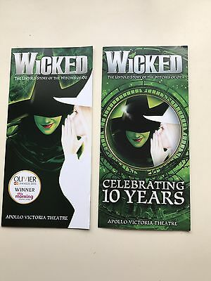 Theatre Flyer / leaflet Wicked The Musical X 2 Apollo Theatre