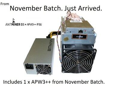 UnOpened Antminer D3 with APW3++ PSU for x11 [In Hand - Ready to be Shipped Now]