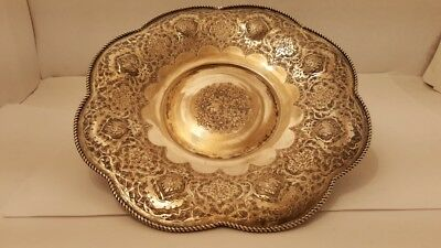 Antique Islamic Persian Silver Plated Tray