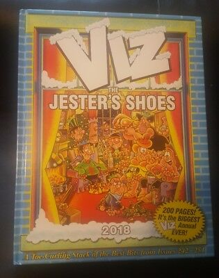Viz The Jester's Shoes - Signed With Hand Drawn Cartoons  - 2018 Annual  - New -