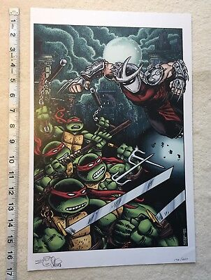 TEENAGE MUTANT NINJA TURTLES PRINT by Kevin Eastman, Peter Laird 11x17 TMNT