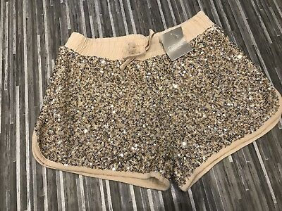 Next Girls Trendy Sequinned Shorts Age 8 Bnwt