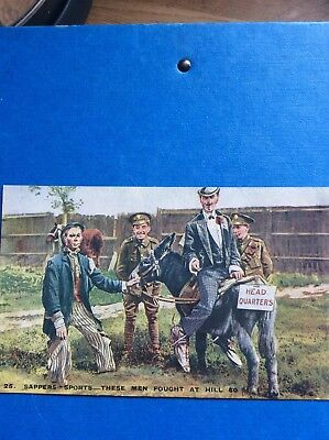Old WW1 postcard of sappers from Hill 60, by Tit-bits