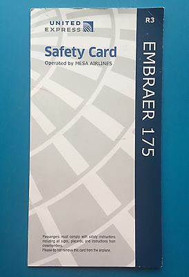 United Express Safety Card--E175