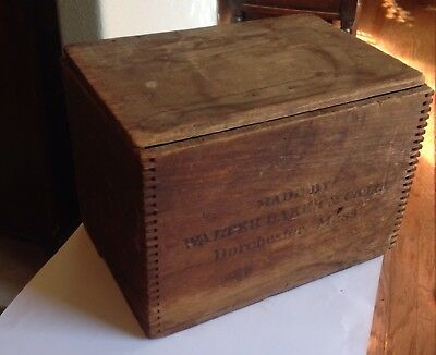 Walter Baker Vintage Wooden Chocolate Box