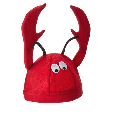 Men's Women's Novelty Hat 3D Lobster Crawfish Crab Seafood Hat With Claws