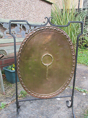 Vintage Copper 'art Nouveau' Fire Screen Circa Early C20, Copper/iron