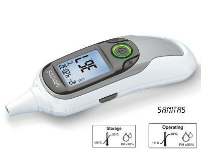 SANITAS Multifunktions-Thermometer 6 in 1 SFT 75 Stirnthermometer Ohr Stirn Baby