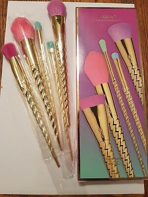 Limited Edition Tarte 5pc Make Believe In Yourself Magic Wands Makeup Brush Set