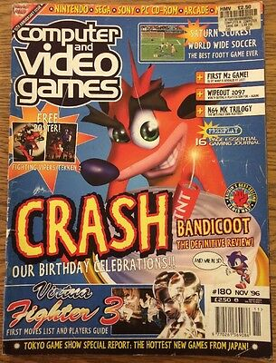 Cvg Computer And Video Games - Games Magazine Issue 180 Crash Bandicoot