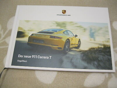 rar prospekt brochure hardcover der neue 911 carrera t. Black Bedroom Furniture Sets. Home Design Ideas