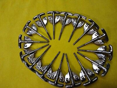 Set of 16 Vintage Premier 'T''s & Claws for bass drum.