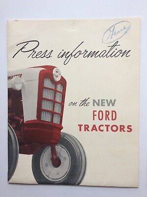 Original 1957 Ford Tractor PRESS KIT PACKET- Workmaster Powermaster Photos+