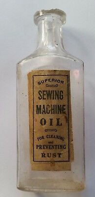 SUPERIOR SEWING MACHINE OIL - Clear - FULL LABEL - Bottle