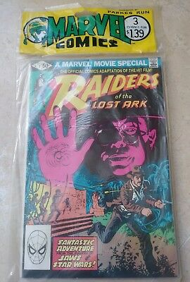 Raiders Of The Lost Ark (1981) #1-3 1st Print Sealed Parke Run 3 pack. Rare