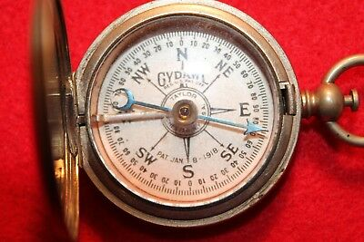 Antique Gydawl Metal Compass Working Nice Collectable 100 Years!