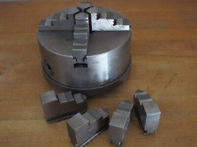 """6"""" Bison 4 Jaw Forged Lathe Chuck Hard Jaws 2.25 x 8 TPI mount"""