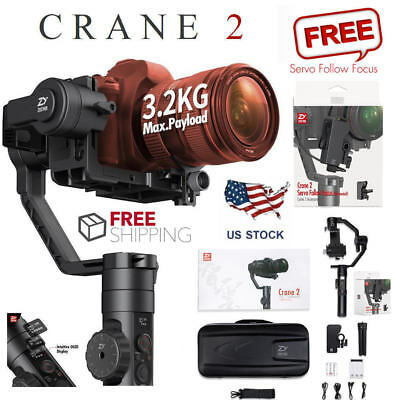 Zhiyun Crane 2 3 Axis Handheld Gimbal Stabilizer w Follow Focus for DSLR Camera