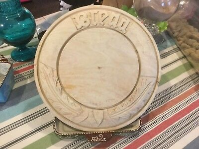 Brimfield Vintage Antique Primitive Hand Carved Bread Board with Wheat Sheaves