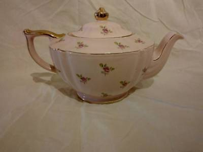 Rare Vintage James Sadler Teapot Pink Background/Pink Roses