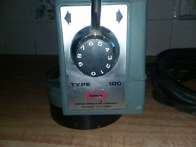 Servo Type 100 power feed, used machine in good working condition w/limit switch