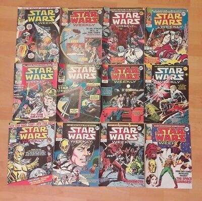 Marvel Comics Star Wars weekly Job Lot 70 issues with palitoy & helix ads