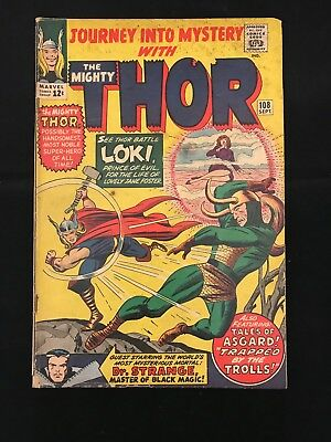 Journey Into Mystery #108 Gd+ Marvel Comics Silver Age Thor!