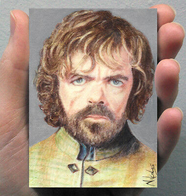 ACEO Tyrion Lannister Peter Dinklage GAME OF THRONES Original Painting