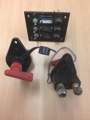 Battery isolator switches.