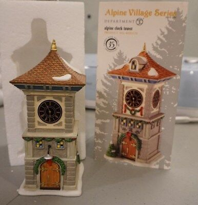 Dept 56 Alpine Village Accessory ALPINE CLOCK TOWER #4020170