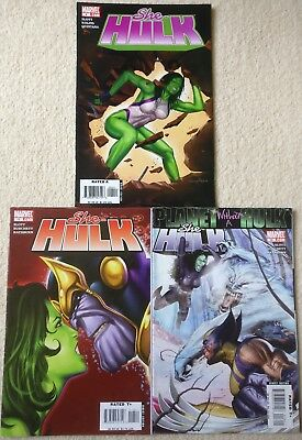 She-Hulk (Volume 2) #4, 13, 16, Thanos, Wolverine, Planet without a Hulk, Marvel