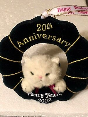 2002 Fancy Feast Cat Christmas Ornament  20th Anniversary