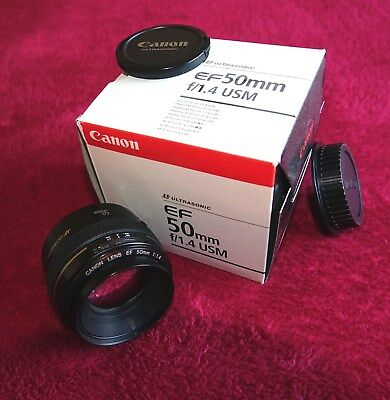 Canon EF 50 mm F/1.4 EF USM for Canon - Black in Excellent Condition