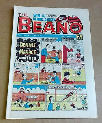 "D.C.THOMPSON  ""BEANO""  COMIC #1948  DATED  NOVEMBER 17th 1979"