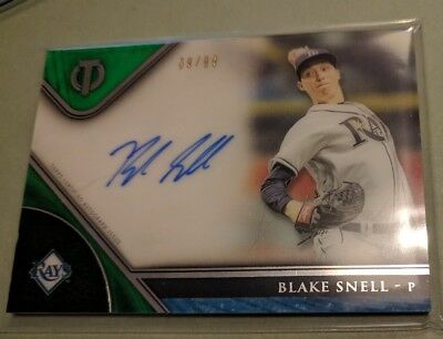 Blake Snell Tampa Bay Rays autos x 2