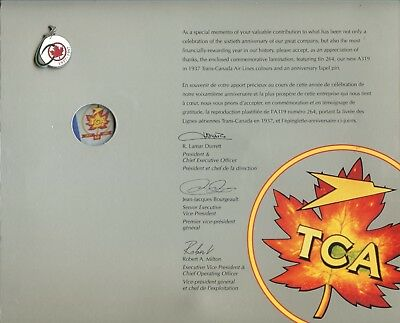 AIR CANADA/TCA 60th ANNIVERSARY EMPLOYEE PRESENTATION - MOUNTABLE PICTURE   PIN