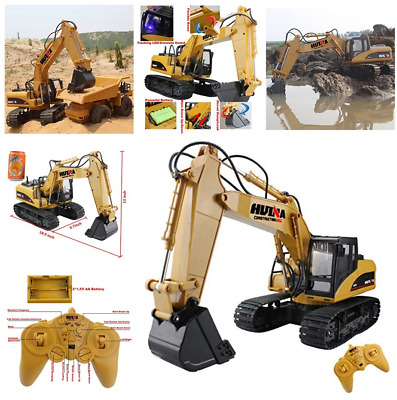 RC Excavator 15CH 2.4G Crawler Truck Wireless Remote Digger Games Toy Gift